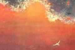 Röd himmel  22x30cm 600 Skr plus frakt